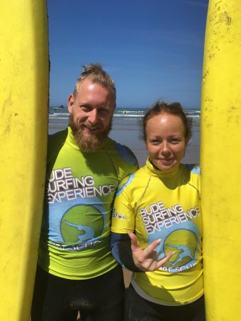 Bude, UK: Surfing is a great activity to share with your partner