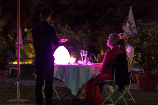San Pietro in Cariano, Italy: Dinner in the garden