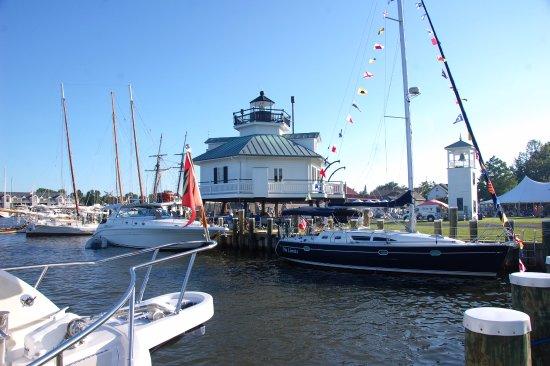 St. Michaels, MD: CBMM waterfront and marina