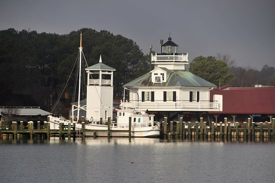 St. Michaels, MD: 1879 Hooper Strait Lighthouse at CBMM
