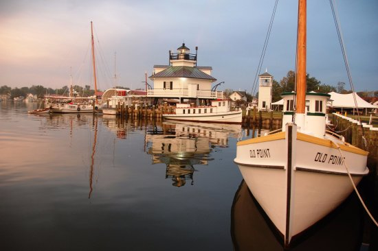 Saint Michaels, MD: 1879 Hooper Strait Lighthouse at CBMM