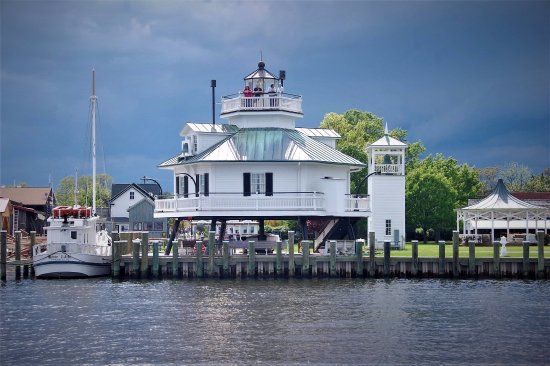 Saint Michaels, MD: 1879 Hooper Strait Lighthouse at CBMM