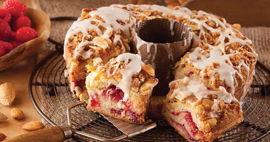 Racine, WI: Raspberry Almond Coffee Cake