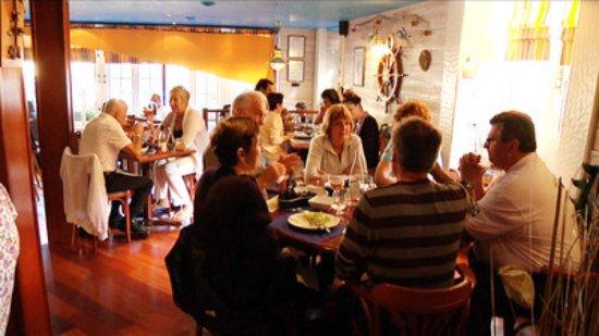 Josselin, Frankrike: Restaurant de l'intérieur