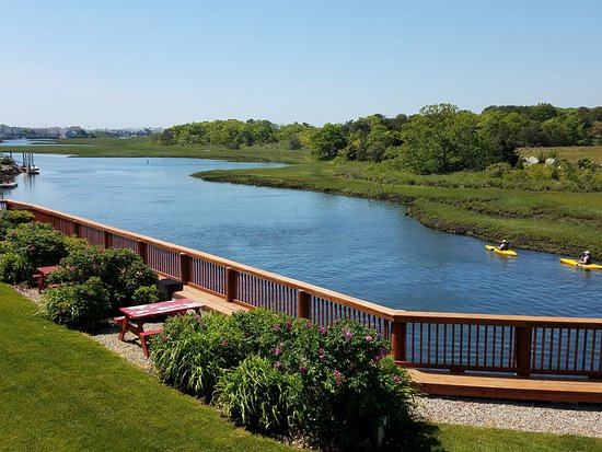 Riverview Resort on Cape Cod : View of river from our room