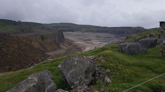 Threshfield, UK : View from the top of the quarry