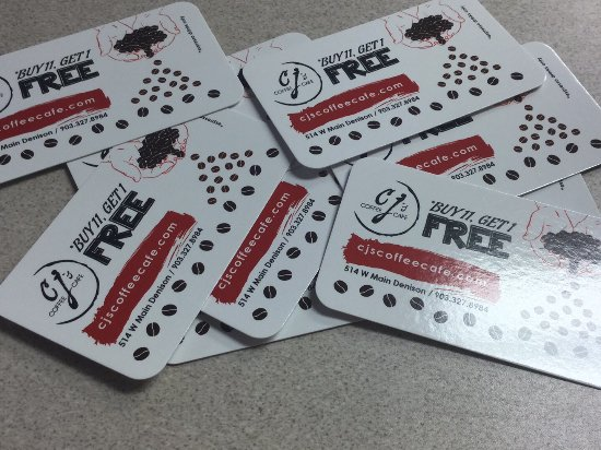 Denison, TX: Loyalty Cards - Double Punches on Thursdays!