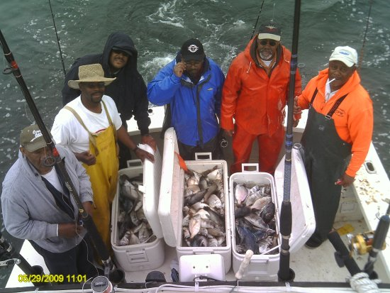 Fairhaven, MA: Typical Bottom fishing trip, Scup and Sea Bass