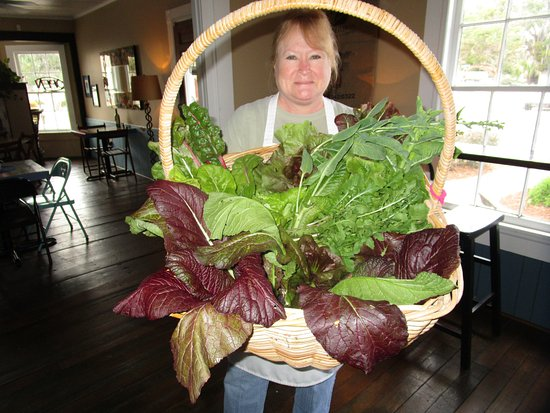 St. Marys, GA: Trish and fresh greens from one of our best customers