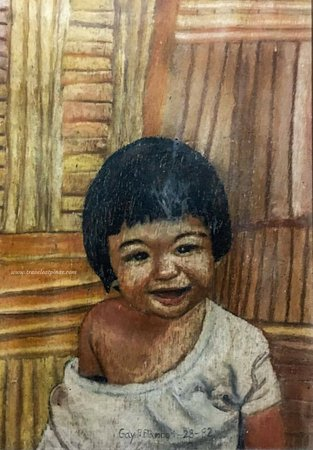 Luzon, Philippines: A portrait of Peter Paul made by 8 years old Gay.