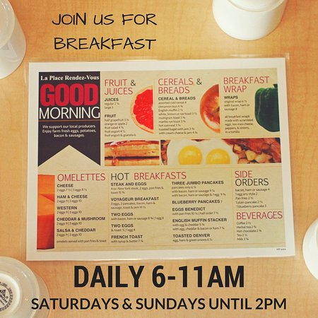 Fort Frances, Canadá: Breakfast Menu