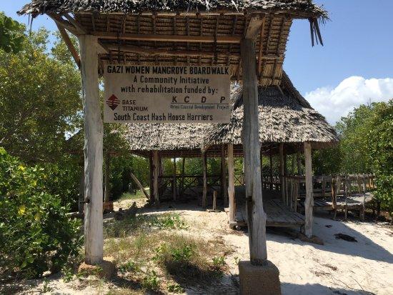 Ukunda, Kenya: 红树林木板路