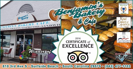 Benjamins Bakery Cafe Trip Advisor Certificate Of Excellence Member Retail Bread Bakers