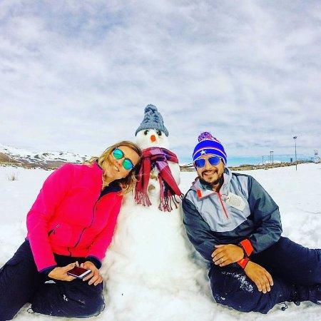 Farellones, Chile: Boneco de neve