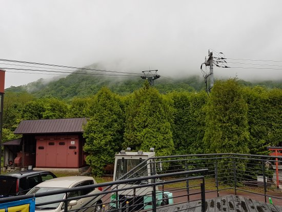 Sobetsu-cho, Japan: The foggy mountain at the top