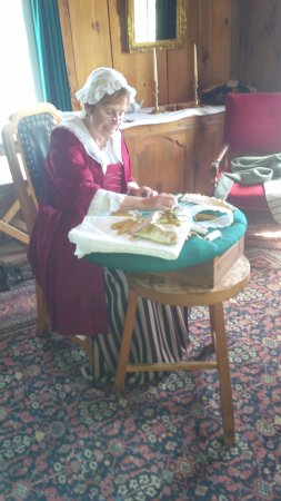 Louisbourg, Canada: Lace making in a typical home