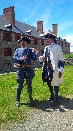 Louisbourg, Canada: A soldier with the captain of the guard