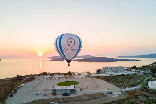 Karteradhos, Greece: sunset from the hot air balloon