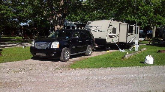 Richmond, Indiana: Our campsite