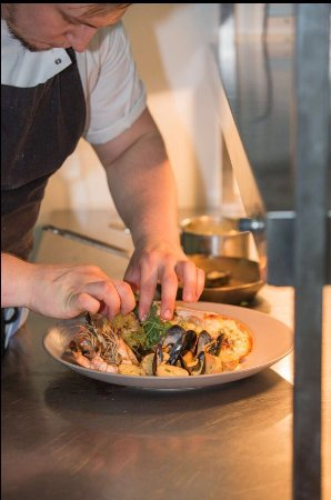 Trowbridge, UK: chef preparing dinner