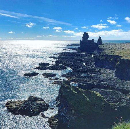Hellissandur, Iceland: Blue sky and overcast days