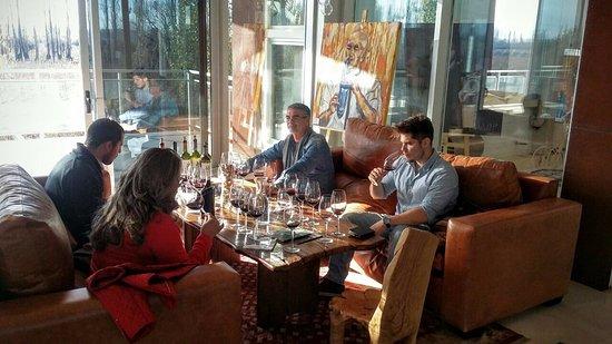 Lujan de Cuyo, Argentina: Degustação na Matervini