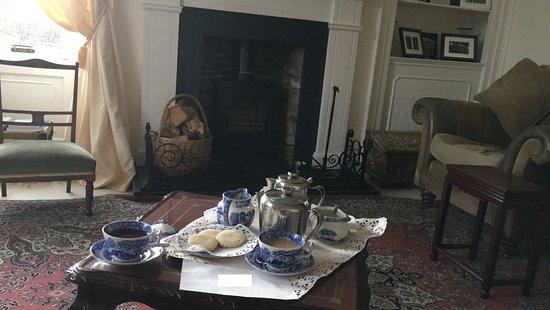 Lauder, UK: Teetime nach unserer Ankunft