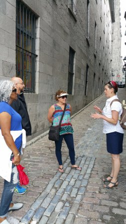 Learning about the history of Montreal.