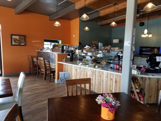 Plymouth, WI: A beautiful, warm and inviting cafe' created from an old gas station!  A must see transformation