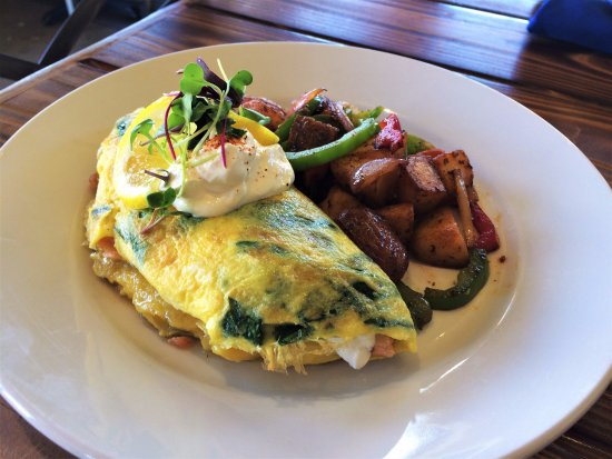 Rockwall, TX: Smoked Salmon and Spinach Omelet available Sundays for Brunch from 11-4.