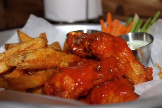 Rockwall, TX: Buffalo Wing basket. One of the many fried baskets we offer, such as catfish and jumbo shrimp.