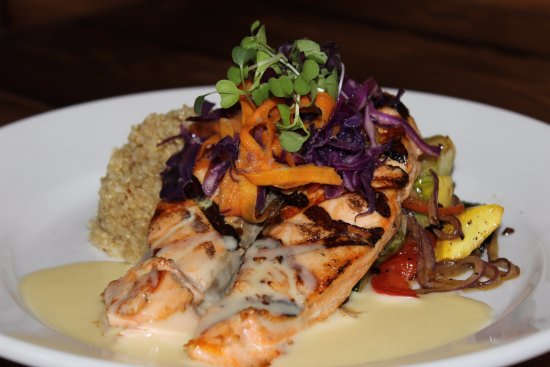 Rockwall, TX: King Salmon Entree, available grilled or blackened.
