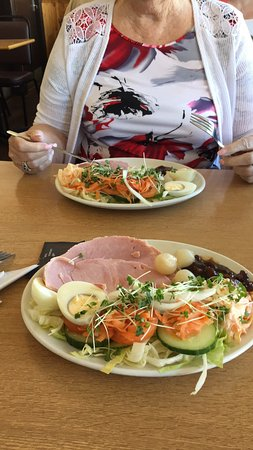 Carousel Licensed Diner: This what they call a  Small Salad. It was Absolutely wonderful and we still couldn't finished i