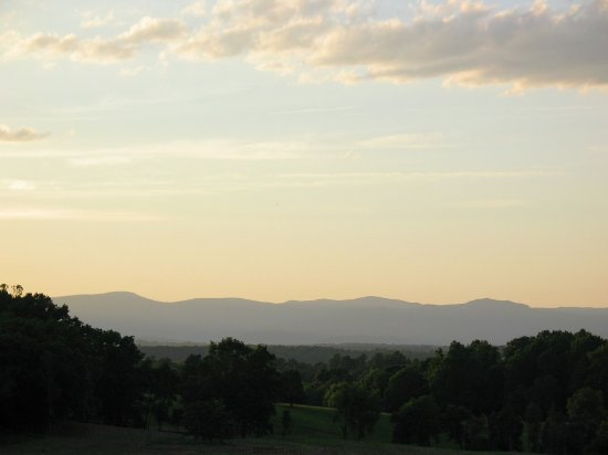 Orange, VA: Blue Ridge Mountains from the west patio