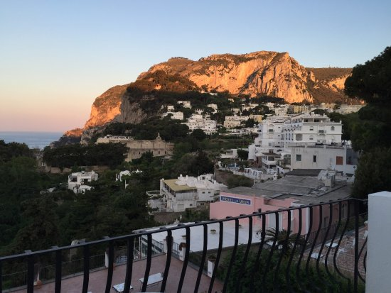La Scalinatella: View from our deluxe room terrace at dawn.