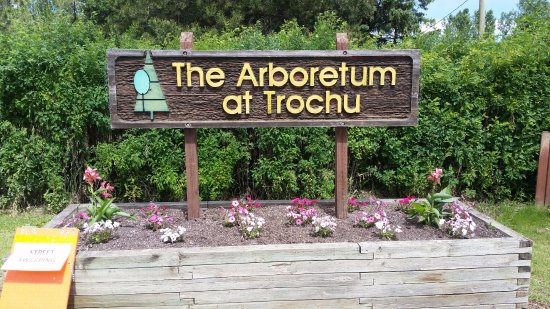 Trochu, Canadá: The gardens look as good as the sign