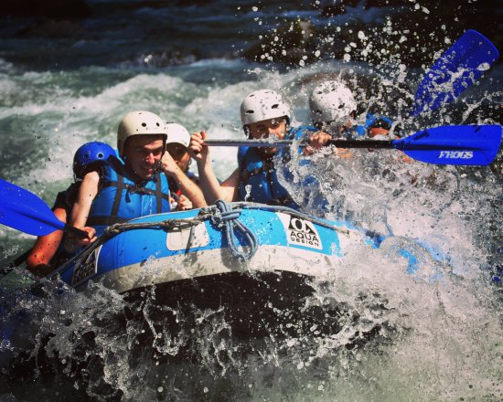 Saint Jean d'Aulps, Γαλλία: White water Rafting on the Dranse River, near Morzine