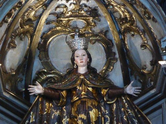 Sanlucar de Barrameda, Spain: Detailaufnahme Marienfigur des Altarbilds