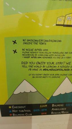 Matten bei Interlaken, Suíça: No drinking, no eating. It's written!