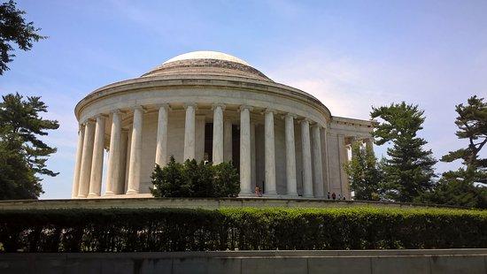Jefferson Memorial : pohled zezadu