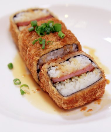 Famous Fried Spam Musubi as seen on