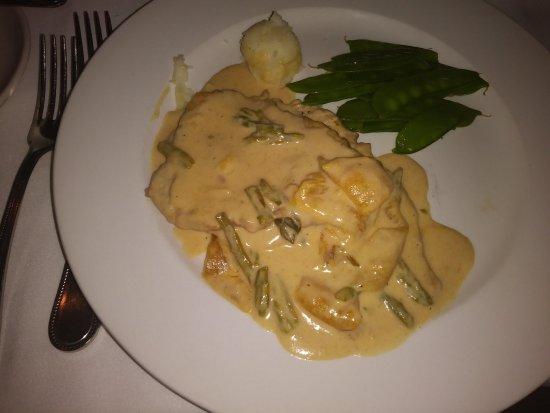 Bridgewater, NJ: Veal entree. Tiny dollop of mashed potato.