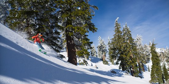 Olympic Valley, CA: Backcountry skiing outside of Squaw Valley