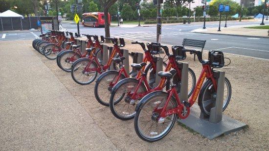 National Mall : možnost půjčit si kola