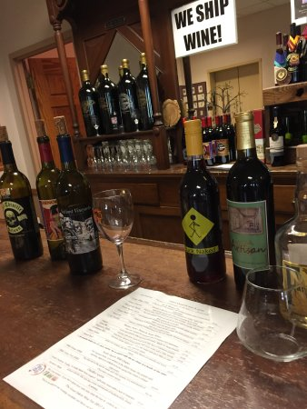 Vermillion, SD: Come and taste the tasty, cleverly named wines.