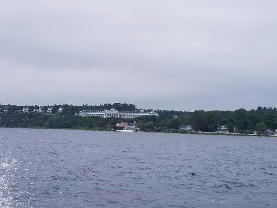Mackinaw City, MI: photo taken from boat