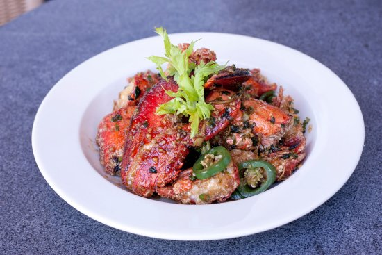 Ginger Cafe: Lobster with Garlic and jalapeno