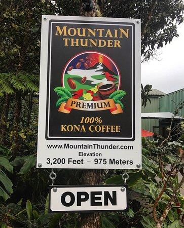 Kealakekua, Hawaje: Mountain Thunder Coffee Plantation