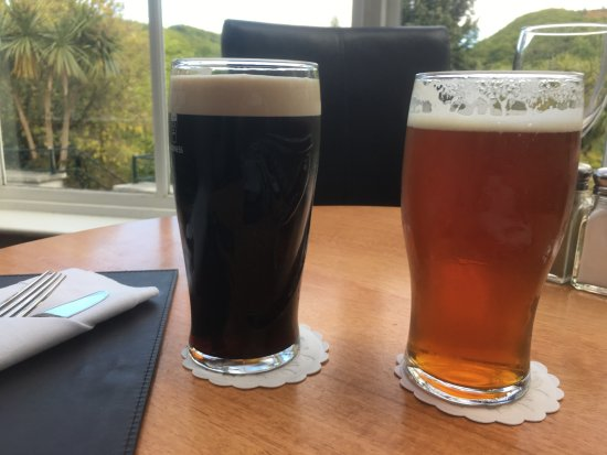 Glen Of The Downs, Ireland: a Guinness & a local red
