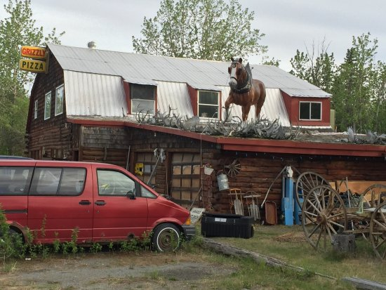 Copper Center, AK: Horse on Roof